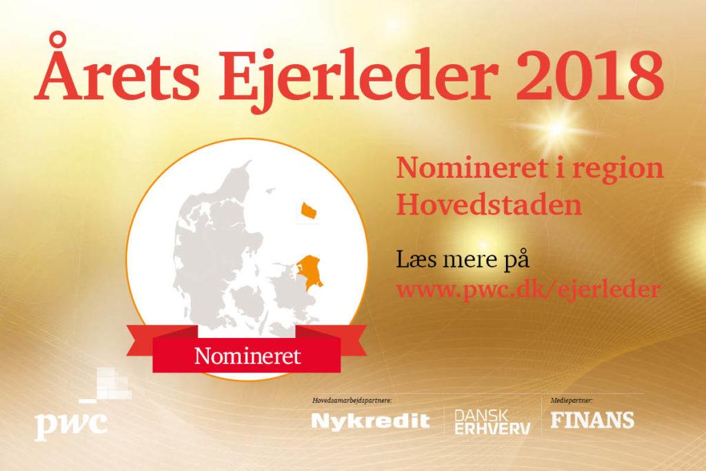 Årets ejerleder 2018 - nomineret i region hovedstaden