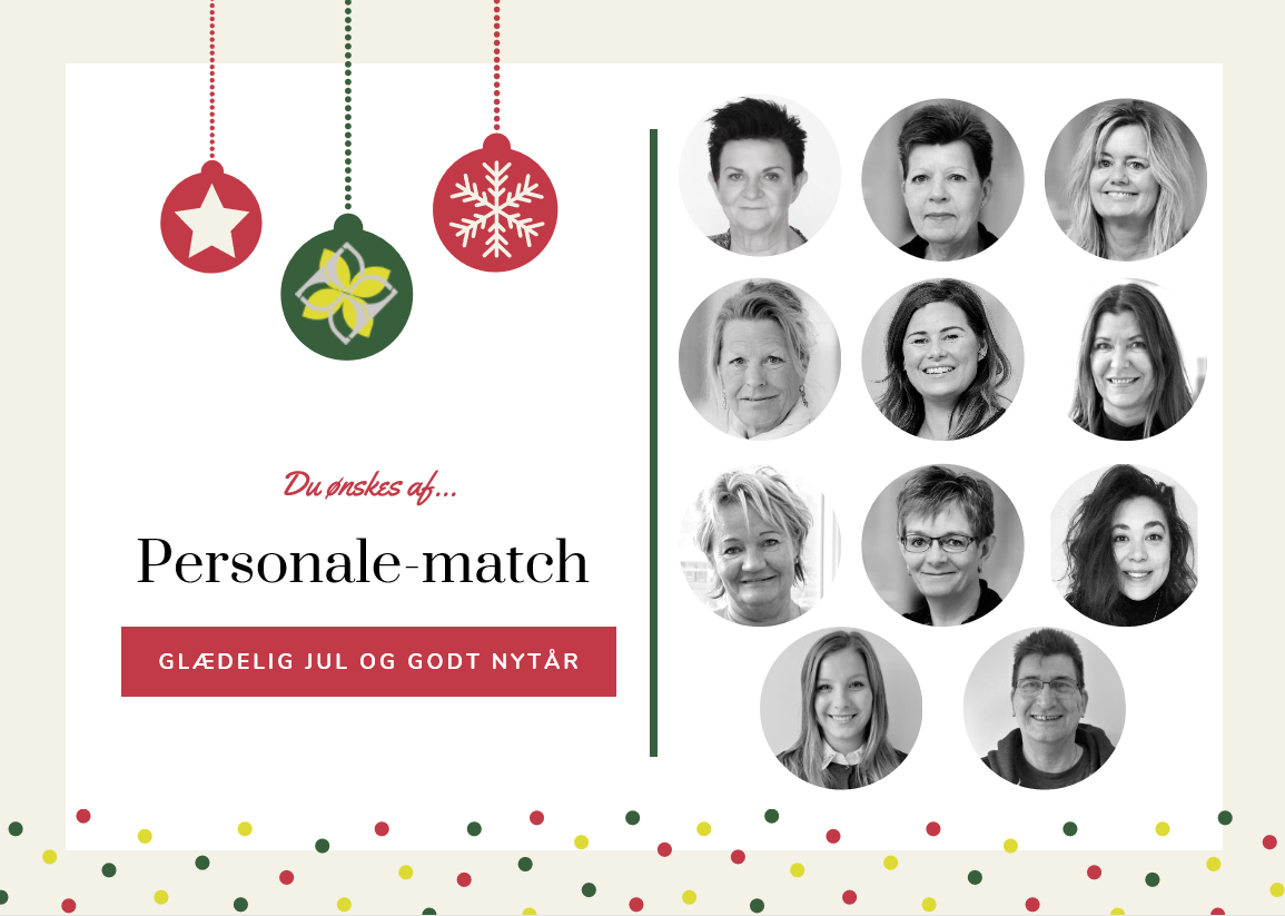 God jul fra Personale-match