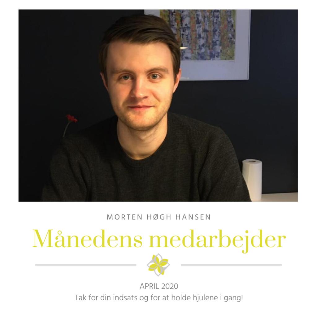 Morten personale-match månedens medarbejder april 2020