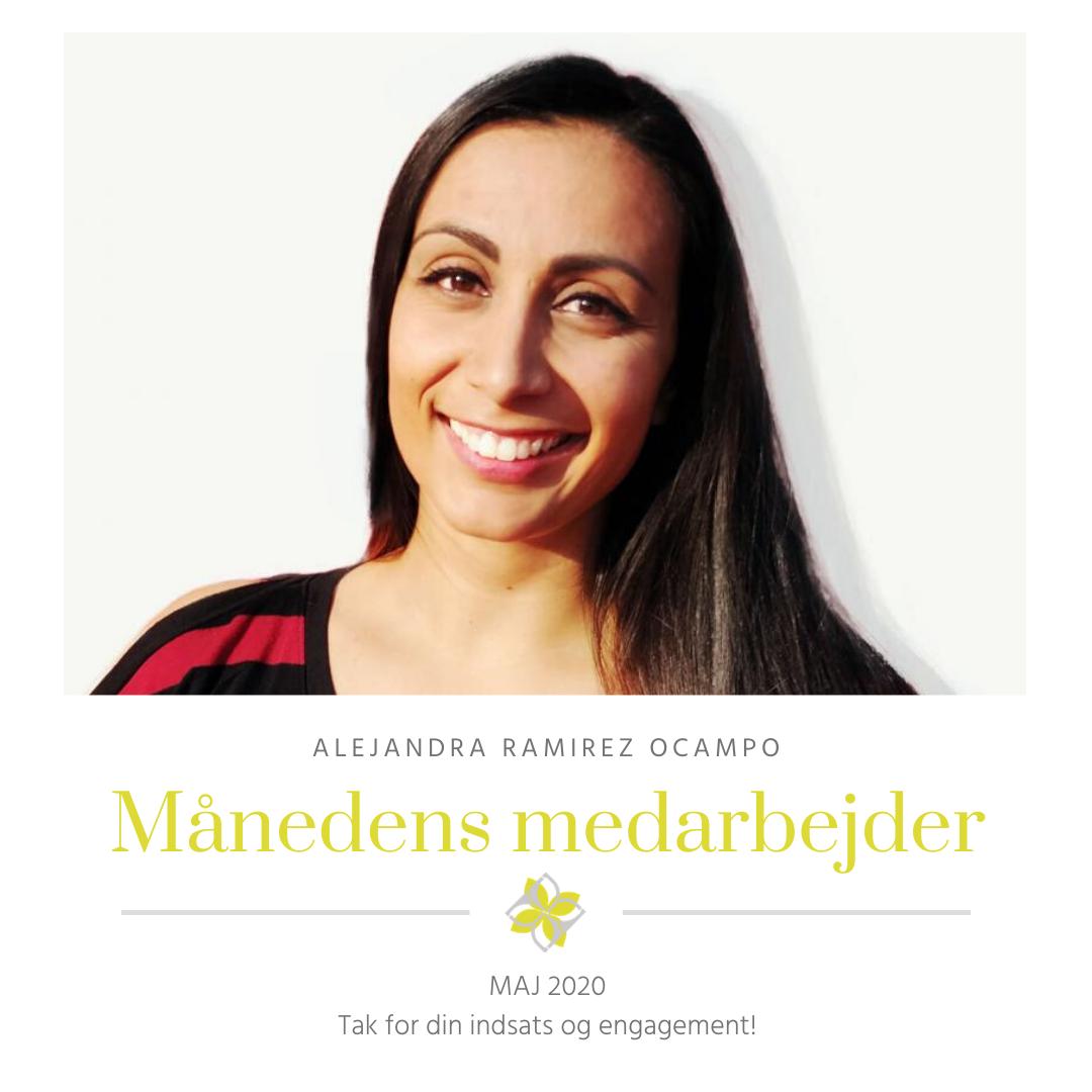 Alejandra Ramirez Ocampo Månedens medarbejder maj 2020