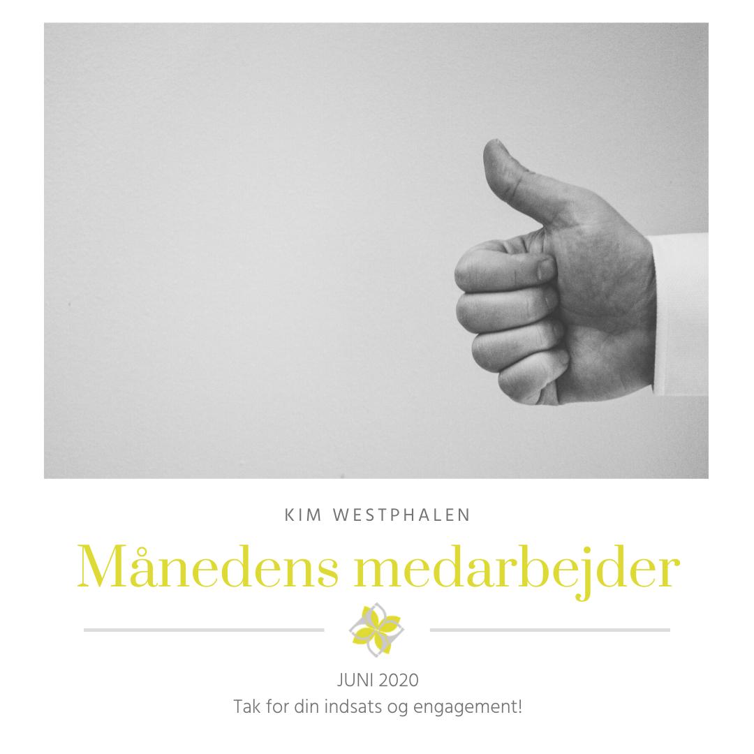 Månedens medarbejder juni 2020 Kim Westphalen
