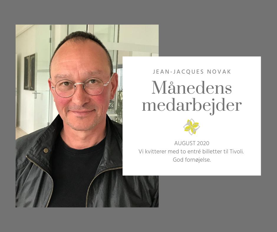 Jean-Jacques Novak Månedens Medarbejder august 2020