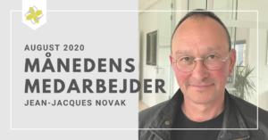 Månedens medarbejde trofæ - Jean-Jacques Novak