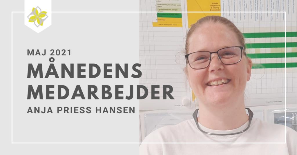 Månedens medarbejder for maj Anja Priess Hansen